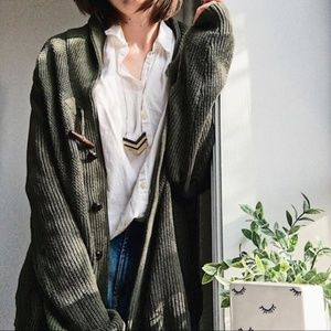 Boho Pine | Toggle Forest Knitted Cozy Cardigan